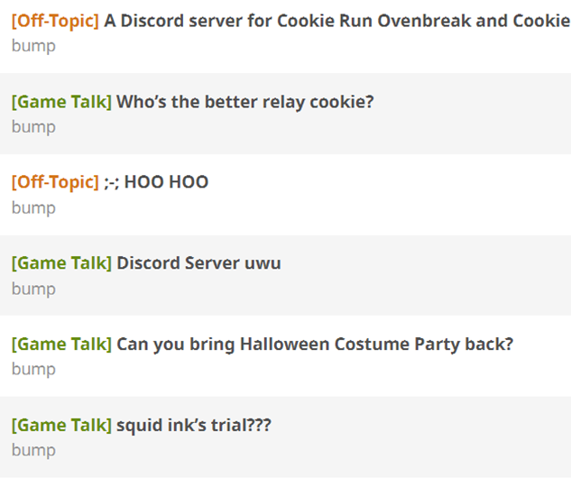 A Discord server for Cookie Run Ovenbreak and Cookie Wars